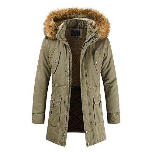 Brizz heren winterjas met rits warm trainingspak casual solide lange mouwen outwear coat softshell jas waterafstotend outdoor winddicht Full-Zip functionele jas met fleece binnenvoering