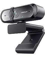 Campark Webcam 1080P, Cámara Web con Micrófono Enfoque Automático USB Webcam con Flexible Giratorio Clip, Plug and Play para Mac Windows PC Videollamada, Streaming De Juegos, Conferencia