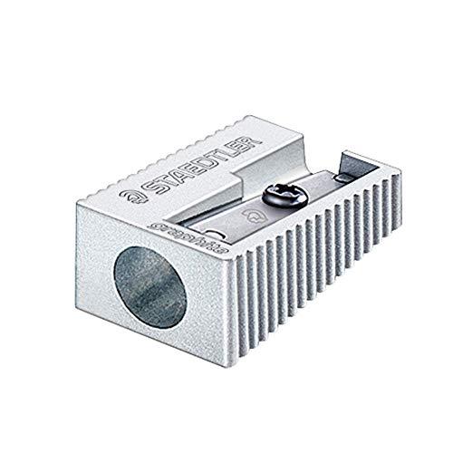 Staedtler 510 10, Pencil Sharpener (Manual Pencil Sharpener, Metallic, Metal)