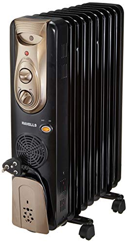 Havells OFR - 9Fin 2400-Watt PTC Fan Heater (Black)