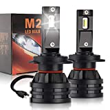 H7 LED Headlight Bulbs Mini but Cool White Car Headlamp 60W(30Wx2) 12000LM(6000LMx2) All-in-One