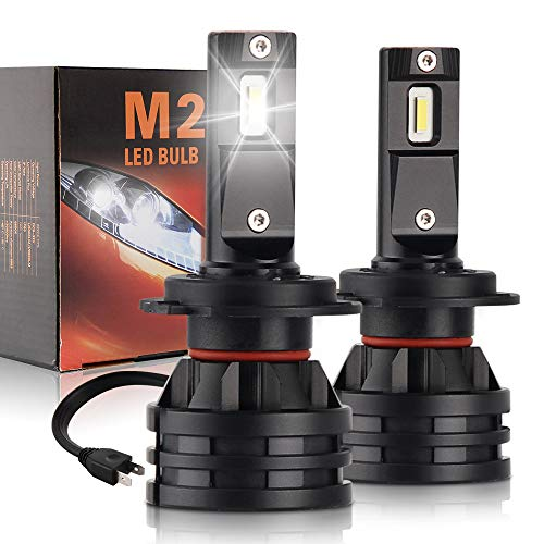 Price comparison product image H7 LED Headlight Bulbs Mini but Cool White Car Headlamp 60W(30Wx2) 12000LM(6000LMx2) All-in-One Conversion Kit Replace for Halogen or HID Bulbs Lamp Colight M2