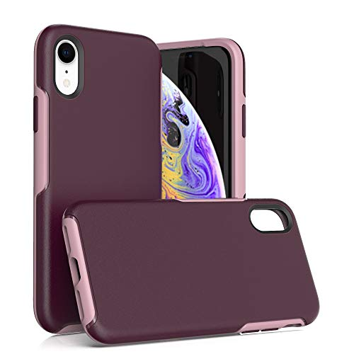 Krichit Ongoing Series Compatible with iPhone XR Case, Anti-Drop and Shock-Absorbing case Compatible with iPhone XR Case (Purple)