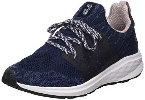 Jack Wolfskin Damen Coogee Knit Low W Sneaker, Blau (Dark Blue/Rose 1186), 42 EU