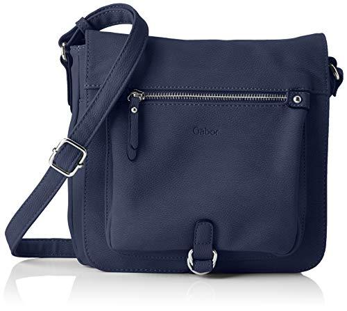 Gabor Umhängetasche Damen Hanne, (Blau), 23.5x23x7.5 cm, Gabor Handtasche Damen