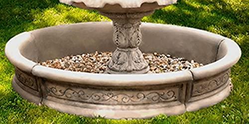 Casa Padrino Borde de Fuente Barroco Gris Ø 192 x A. 36 cm - Borde de Fuente de jardín Redondo -...