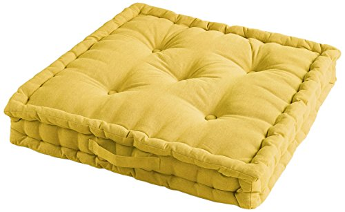 60 Cushion Pacifique Le x Plain x Des 60 cm Cotton Jardin 60 Coloured cmCottonyellow60 Cigales Floor CdrBexWo