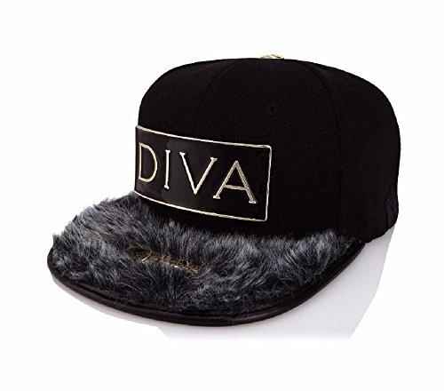 Xtress Exclusive Gorra negra de visera plana con el logo DIVA