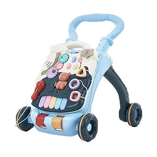 Read About Btybess Baby Walker Trolley Anti-Rollover Multifunctional Infant Learning Walk Walker Chi...
