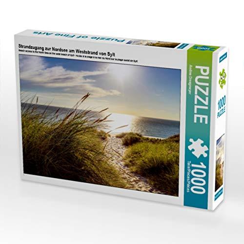 CALVENDO Puzzle Strandzugang zur Nordsee am Weststrand von Sylt 1000 Teile Lege-Größe 64 x 48 cm Foto-Puzzle Bild von Andrea Dreegmeyer