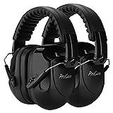 ProCase [2個セット]大人用 防音イヤーマフ、遮音 調整可能なヘッドバンド付き 耳カバー 耳あて 聴覚保護ヘッドフォン、ノイズ減少率:NRR 28dB -ブラック/2個
