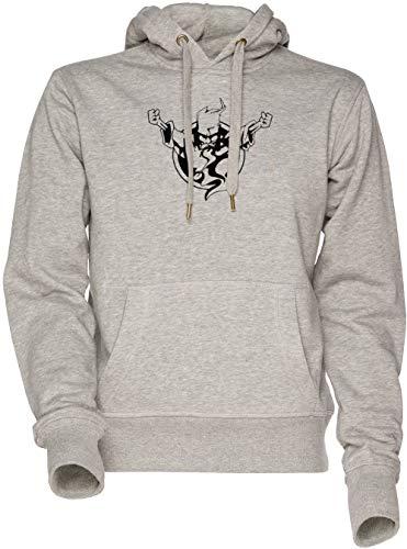 Vendax Thunderdome Unisex Herren Damen Kapuzenpullover Sweatshirt Grau Men's Women's Hoodie Grey