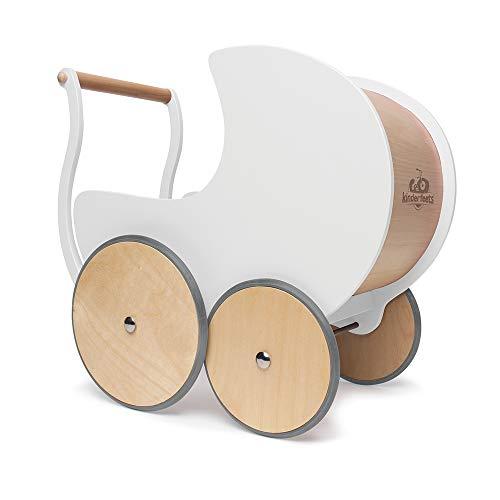 Holz Puppe Kinderwagen/Walker, weiß