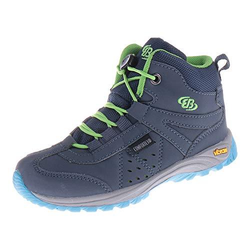 Brütting Schuhe für Jungen Outdoorstiefel Riverside Marine Grün 231060 (28 EU)