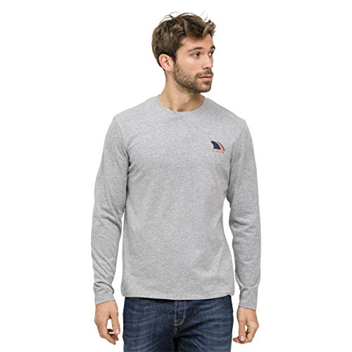 OxbOw Treys T-Shirt Manches Longues Homme, Gris Chiné, FR (Taille Fabricant : 3XL)