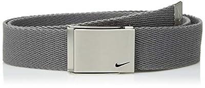 Nike Boys' Big Single Web Belt, light charcoal, One Size
