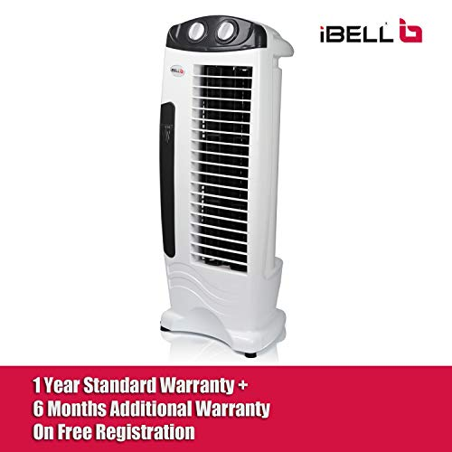 iBELL DELUXE Tower Fan with 25 Feet Air Delivery, 4 Way Air Flow, High Speed,Anti Rust Body (White)