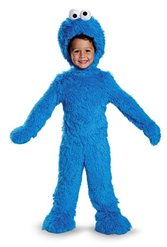 Disguise 76873W Cookie Monster Extra Deluxe Plush Costume, (12-18 Months)