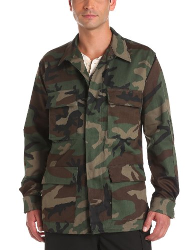 Propper Men's BDU Coat, Woodland, 60% Cotton, 40% Polyester, Small Short