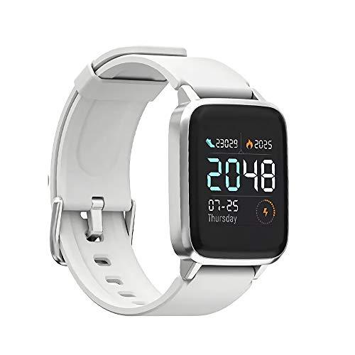 HAYLOU LS01 Global Version BT4.2 Smartwatch, moniteur de fréquence cardiaque Fitness Tracker 9 modes sportifs 1,3 pouces 210 mAh 14 jours en veille pour téléphone Android iOS
