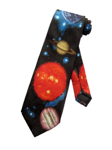 Steven Harris cravate planete du systeme solaire Noir-taille unique