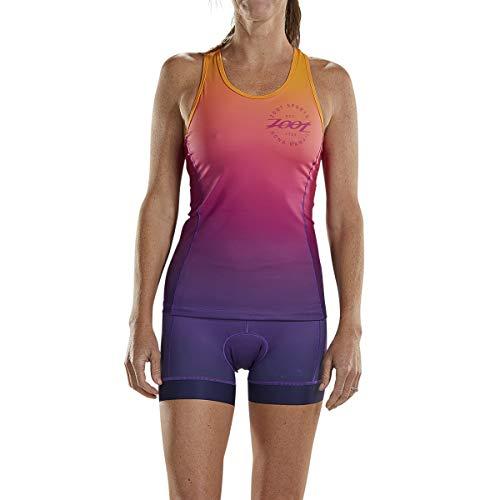 Zoot Damen Triathlon Racerback Style Sunset mit integriertem BH, 3 Rückentaschen, LSF 50+ und SeamLink-Nähten Größe S