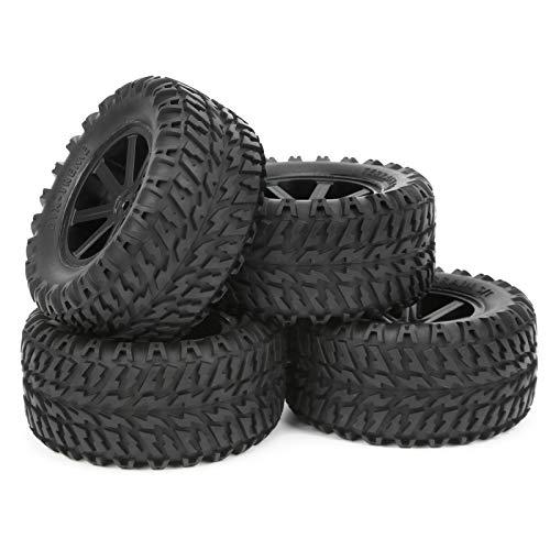 GXX 4Pcs RC Wheels Reifen Mit 7Pcs Speichen Für 1/10 Fernbedienung Für ZD Racing Desert Truck Car