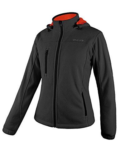 BALEAF Women's Fleece Jacket/Vest Full Zip Hoodie with Detachable Hood Grey Size XXL