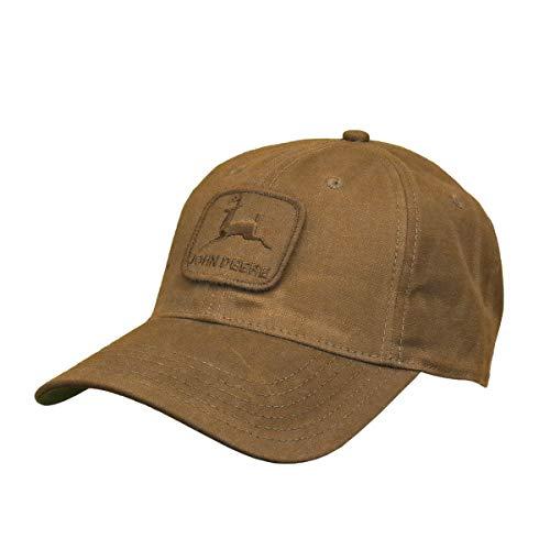 John Deere Workwear Waxed Canvas Hat W/Patch, Brown