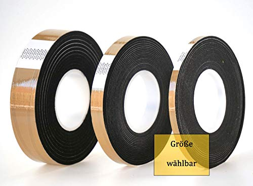 Komprimierband Acryl 300 - Farbe: anthrazit + grau - Größe wählbar/Quellband/Fugendichtband/Kompriband/Fugenabdichtung/Fensterdichtband/Dichtungsband (10/2 anthrazit 12,5 m)