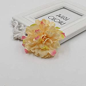 Artificial and Dried Flower 20pcs/lot Gradient Carnation Flower Head Simulation Flower Silk Wedding Decoration DIY Wreath Scrapbooking- ( Color: Champagne Pink )
