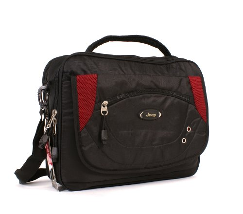 Red Jeep laptop business messenger work bag 1210