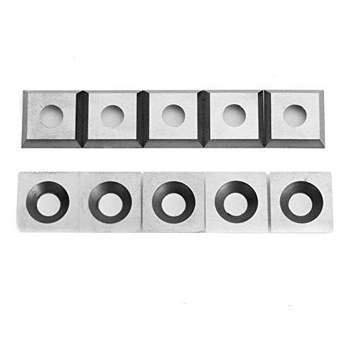 Review ZGQA-GQA 11mm 10pcs Square Carbide Insert Cutter 4-Edge for Woodworking Turning Tools Cemente...