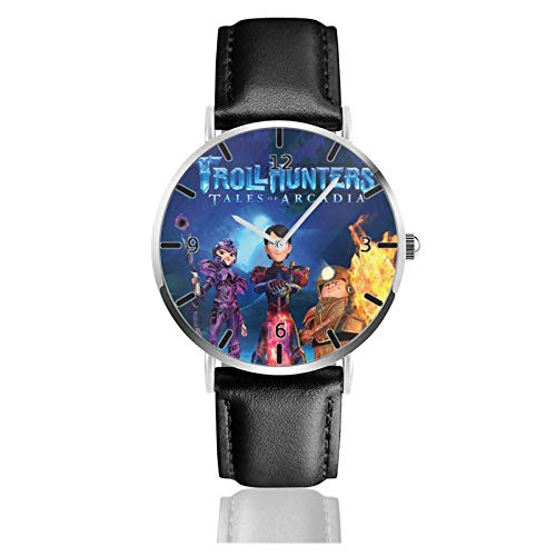 Los niños Miran Reloj Pulsera niño Historieta 3D Impermeable Troll- Pantalla Redonda 38mm Batería de botón Poder Unisex Watch