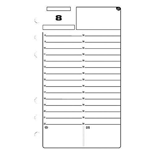 Exacompta - 18213 - Recharge perpétuelle pour organiseur Exatime 17 - 92 feuillets - Blanc