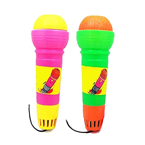 YepYes 2pcs Divertido Echo Micrófonos Niños Duraderos Pretend Practical Magic Mic Juguete Juguetes De Plástico Echo Mic para Cumpleaños Graduaciones Color Azar