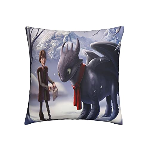 Xiaoxian Pillow Train Your Dra-Gon - Funda de almohada decorativa para el hogar, diseño de doble cara, funda de cojín para sofá, cama, coche