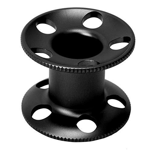 TOPINCN Carrete de Control de Dedo, Carrete de Carrete de Dedo, Carrete de Dedo Submarino, para Herramientas de línea de Snorkel(Black)