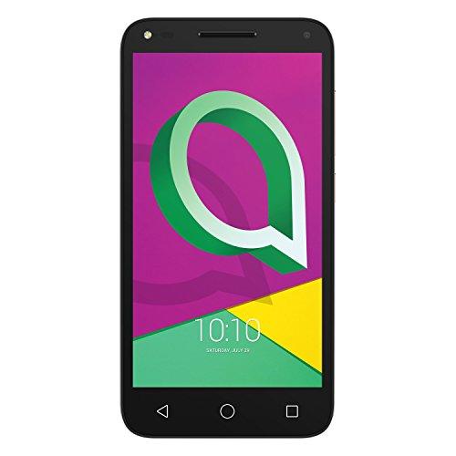 "Alcatel U5 3G FP - Smartphone de 5"" (Quad-Core 1.3 GHz, 1 GB de RAM, Memoria Interna 16 GB, Android) Color Oro"