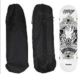 DreamFire Black Skateboard Backpack Waterproof Shoulder Bag for Travel Skateboading Crusier 33 inch