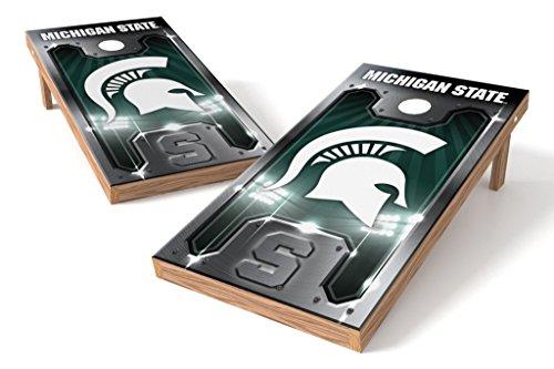 PROLINE NCAA College 2' x 4' MiCHigan State Spartans Cornhole Board Set - Plate