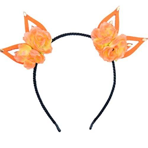 ADKYHalloween Rose Ears Hoop AliExpress Cross-border Women's Festival Party Headwear Ropa Accesorios (2 piezas)