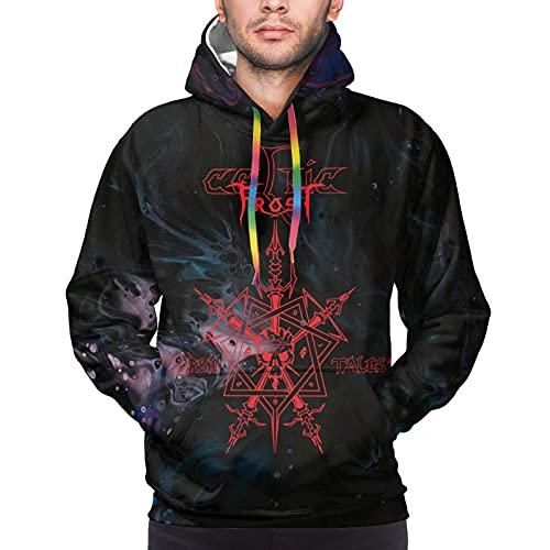 Celtic Frost Morbid Tales Mens Sweatshirt Long Sleeve Concert Hooded Sweatshirt Cozy Sport With Pockets Black Hooded