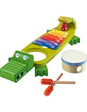 Haba 302566 - Klapper-krokodil met 4 spannende geluidsinstrumenten