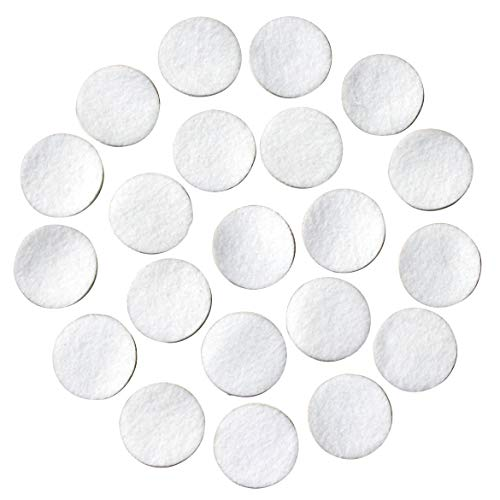 """White Adhesive Felt Circles: Variety of Sizes: ½"""", ¾"""", 1"""" or 1.5"""" Wide; Package Sizes for Wholesale Pricing, Die Cut Stickers Ready to use for DIY Projects & Crafts (48 Count 1"""", White)"""
