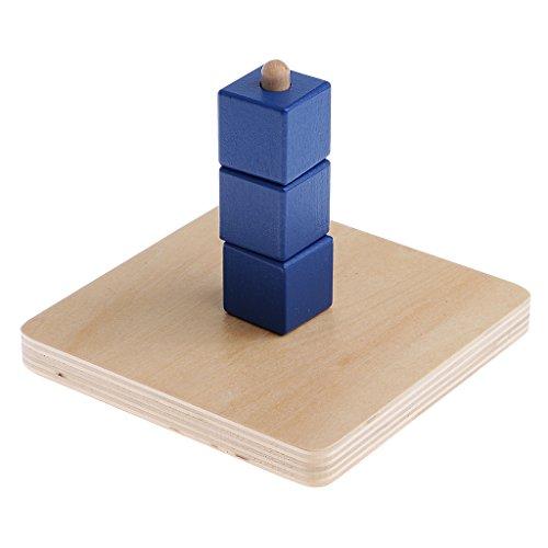 MagiDeal Formes à Trier et à Empiler Jeux de Construction Montessori Début D'apprentissage Matériel