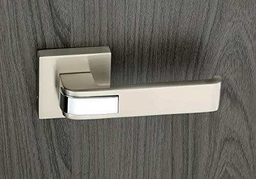 HARMONUS Zinc Alloy Mortise Door Lock Handle/Rose Mortice Handle (Matt-CP/HI-5062)