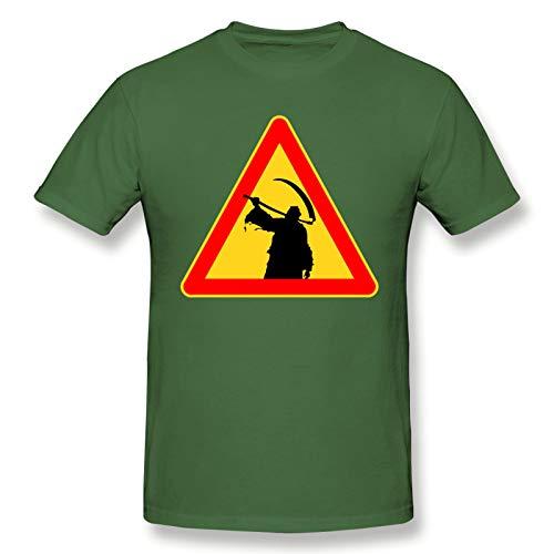 Children, of, Bodom, Heavy, Metal, Album, Art Men's Basic Short Sleeve T-Shirt Casual Cotton Fashion Soft Printed Moss Green 4XL