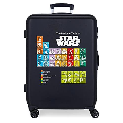 Star Wars Badges Maleta Mediana Azul 48x68x26 cms Rígida ABS Cierre de combinación Lateral 70 3 kgs 4 Ruedas Dobles