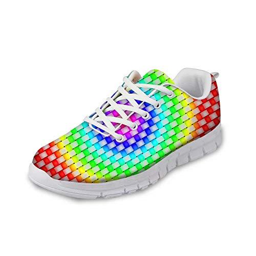 MODEGA Las Mujeres Coloridos Zapatos de Hombre Zapatos de Cricket para los...